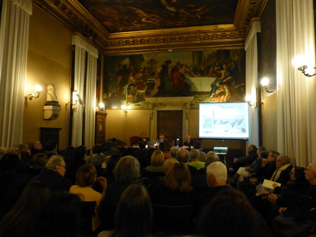 Il pubblico nella Sala Tommaseo dell'Ateneo Veneto