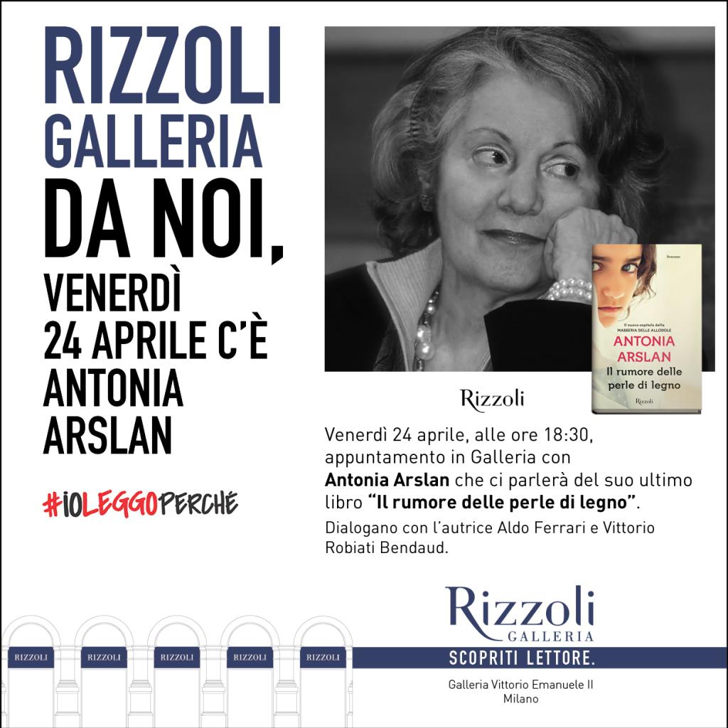 Invito_Arslan 24 aprile Rizzoli Galleria - Milano
