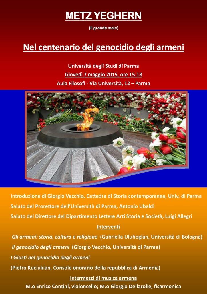 Convegni-Centenario genocidio armeni (Parma)-Locandina1