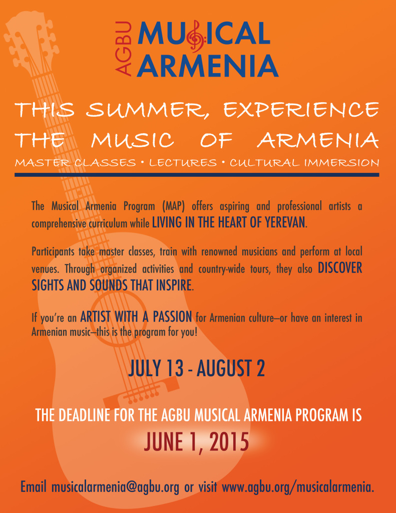 Musical Armenia Flyer