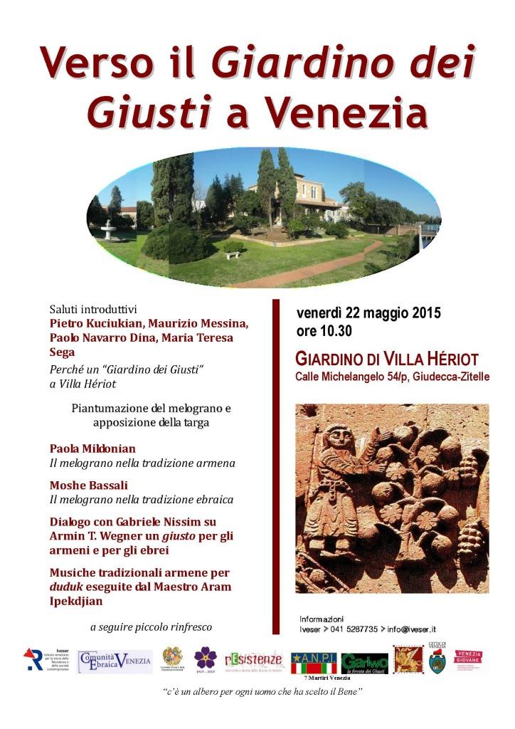 Verso il Giardino dei Giusti a Venezia