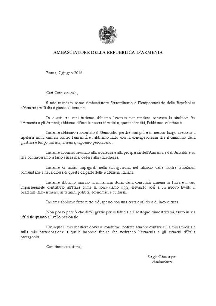 AMBASCIATORE DELLA REPUBBLICA D